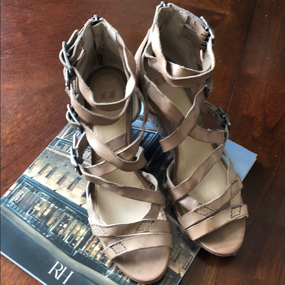 71e34ff025c83 Frye Shoes - Frye Rain Strappy Wedge Sandals